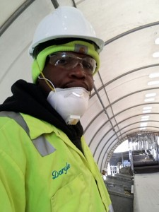 Daryle Washington on the job at Recology
