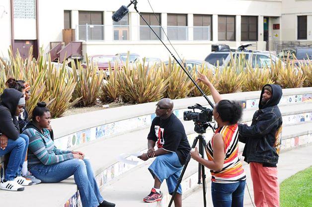 """Filming """"I Just Wanna Ball"""" at McClymonds High School"""