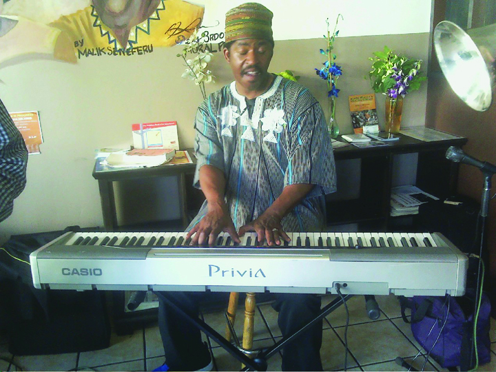 Maestro-Curtis-performing-at-Auntie-Aprils-Jazz-and-Gumbo-Feast-by-Rochelle, Third Street Stroll ..., Culture Currents
