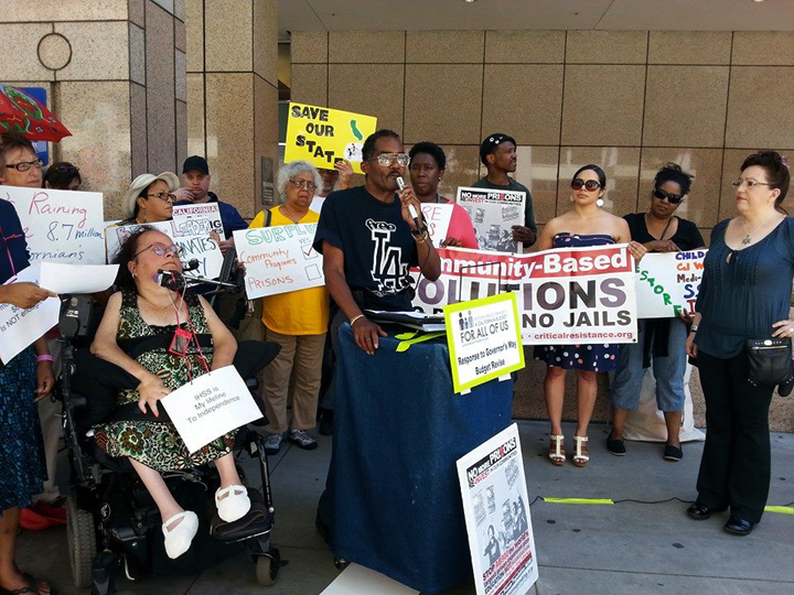 In response to the May Budget Revise, activists held a Statewide Day of Action May 14 in six cities calling on Gov. Brown to cancel the $500 million slated for jail expansion.