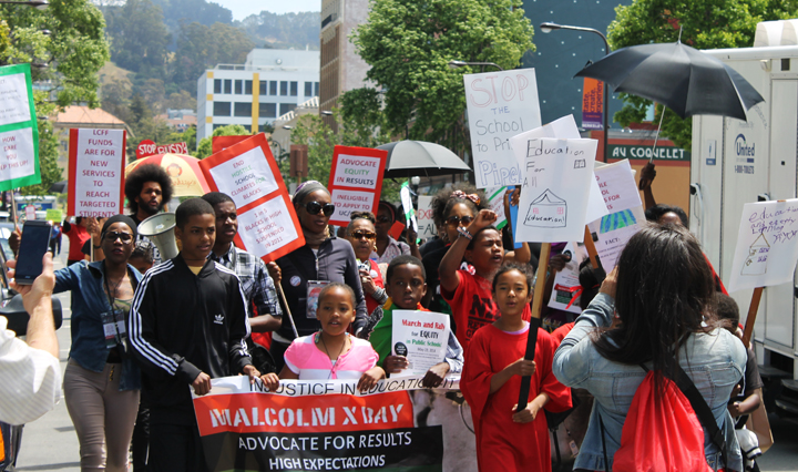 Parents-Children-of-African-Descent-PCAD-Malcolm-X-Day-march-down-Univ-Ave-to-BUSD-HQ-Berkeley-051941-2-by-Laura-Savage-web, Berkeley parents rally forequity for Black students, Local News & Views