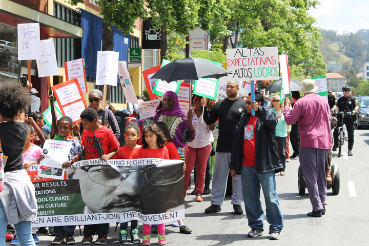 Parents-Children-of-African-Descent-PCAD-Malcolm-X-Day-march-down-Univ-Ave-to-BUSD-HQ-Berkeley-051941-by-Laura-Savage-web, Berkeley parents rally forequity for Black students, Local News & Views