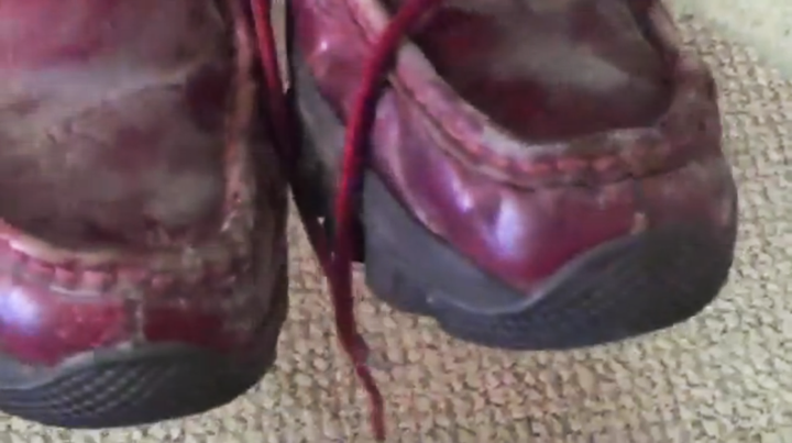 Damian's moldy shoes