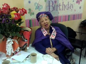 Verlie Mae Pickens celebrates her 98th birthday at the Dr. George Davis Senior Center on June 11. – Photo: Rochelle Metcalfe
