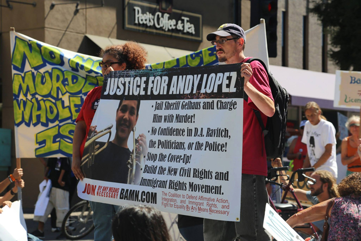 Andy-Lopez-march-rally-BAMN-Justice-for-Andy-Lopez-071214-by-Daniela-Kantorova, Andy Lopez inspires the people to rise up, to defend! educate! resist!, Local News & Views