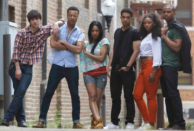 "The ""Blackbird"" cast – Julian Walker as Randy Rousseau is second from left."