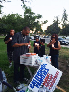 "In San Bernardino, a vigil was held at 6 p.m. on July 8 organized by California Families Against Solitary Confinement, who reminded the gathering, ""Through suffering we were strengthened by the courageous efforts of our loved ones on hunger strike."""