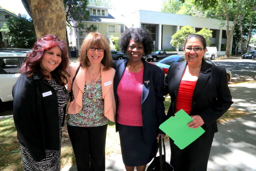 Prisoner rights advocates Irene Huerta, Beth Witrogen, Marie Levin and Dolores Canales traveled to Sacramento for a meeting with California Corrections Secretary Beard and other top prison officials on June 26, 2014.