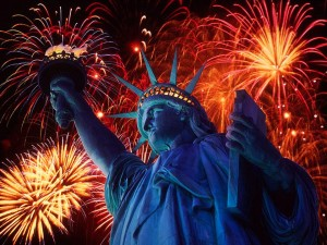 Statue of Liberty, Fourth of July fireworks