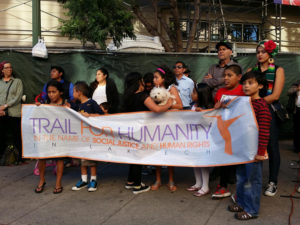 Trail-for-Humanity-send-off-rally-Fruitvale-Oakland-072114-by-Al-Osorio-300x225, Trail for Humanity: Mothers and children walk from Merced to the border, National News & Views