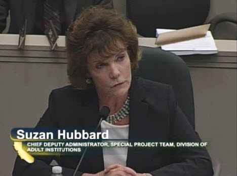 CDCR's Suzan Hubbard testifies Feb. 11.