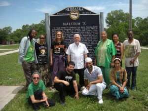 National Jericho Movement Conference delegates visit Malcolm X memorial Omaha 0614 by Linda Kennedy