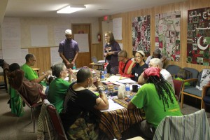 Jericho Conference delegates in a workshop strategize on building a movement to free all political prisoners. – Photo: Linda Kennedy