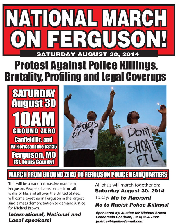 National-March-on-Ferguson-083014-flier, Thousands attend funeral of Michael Brown, National News & Views