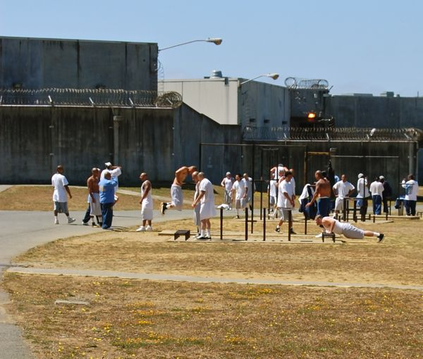The Pelican Bay B-Yard for prisoners in general population – Photo: Andrew Goff