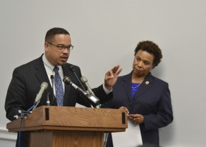 Reps. Keith Ellison and Barbara Lee have stepped out ahead of the rest of the Congressional Black Caucus to denounce Israel's lethal blockade of Gaza. – Photo: Freddie Allen, NNPA