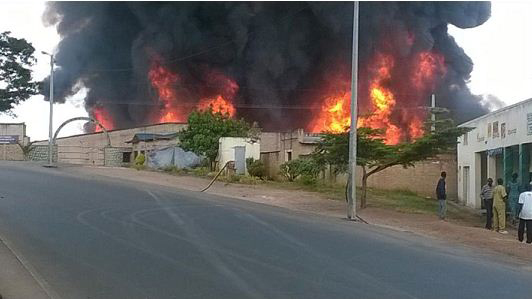 Muhanga Prison in Gitarama, Rwanda's largest prison, was partially destroyed by fire June 5, 2014.