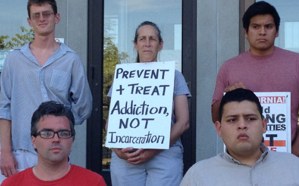 Santa Cruz rally for alternatives to incarceration by Aron Garst