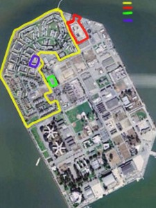 "Site 12 is color bordered; the ""bottom two thirds"" of the island is what's left."