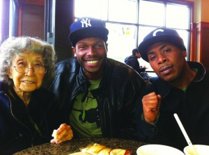 Yuri Kochiyama, Malcolm Shabazz and JR Valrey formed a friendship, begun with prison correspondence, that strengthened their revolutionary values and good works. – Photo: Block Report
