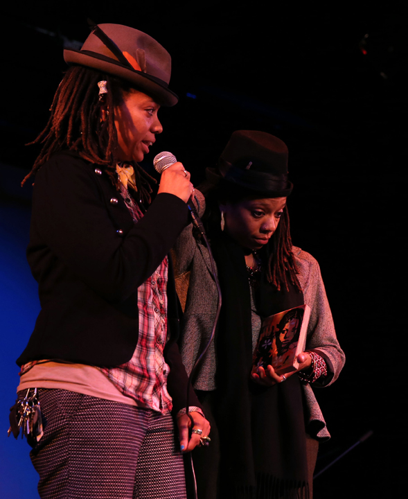 """Melonie and Melorra Green, know everywhere as """"the twins,"""" won the award as Champions of Culture and Black Women in Radio. They host the KPOO show Ibeji Lounge on Tuesdays, 8-10 p.m. – Photo: Malaika Kambon"""
