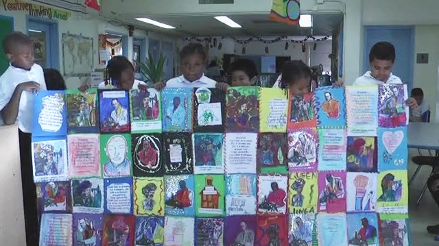 Through their art, William Rhodes helped his students at Dr. Charles Drew Elementary School in Bayview Hunters Point connect with children in South Africa.