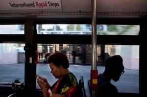 Riding AC Transit can give a glimpse into the soul of Oakland. – Photo: Tim Hussin, SF Chronicle