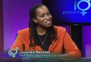 Richmond Vice Mayor Jovanka Beckles is interviewed on the David Perry Show Oct. 7.