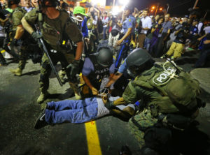 Michael-Brown-rebellion-Ferguson-militarized-police-arrest-young-Black-man-082014-by-Curtis-Compton-AP-web-300x222, More Black people killed by police than were lynched during Jim Crow, National News & Views