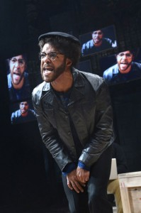 """In """"Party People"""" at the Berkeley Rep, Christopher Livingston plays the Panther cub, Malik. – Photo: KevinBerne.com"""