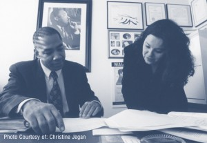 SF-Deputy-Public-Defender-Chris-Hite-clerk-Thelma-Flores-Arroyo-2007-by-Christine-Jegan-300x207, Public Defender, Quattrone Center to study consequences of race, justice in SF, Local News & Views