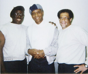 "This is the Angola 3 – Herman Wallace, Robert King and Albert Woodfox – when they were together in Angola Prison, the 18,000-acre former plantation still worked by the ""slaves"" imprisoned there. The warden kept them in solitary because of his fear of what he calls ""Black Pantherism."""