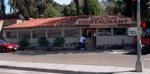 Outside the Bonita Store restaurant, eight miles from the Mexican border, Danilo Blandon was taped by the DEA bragging about the thousands of kilos of cocaine he'd sold to the Black gangs of Los Angeles since 1981. – Photo: Gary Webb, Mercury News