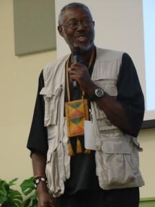 Dr. Kobi Kambon at the FAMU conference – Photo: Wanda Sabir
