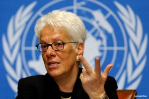 Carla Del Ponte, former chief prosecutor at the ICTR, was summarily fired after declaring her intent to indict Rwandan President Paul Kagame for the assassination of Rwandan President Juvenal Habyarimana and Burundian President Cyprien Ntaryaimira. – Photo: AP