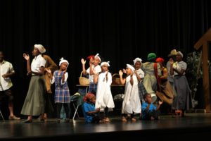 """Lyric Performing Arts Academy students sing a medley of Spirituals at their November """"Harriet Tubman Learned"""" student showcase."""