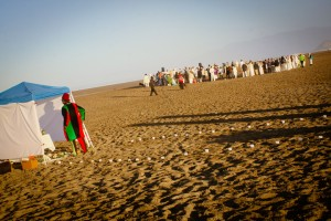 The scene at San Francisco's Ocean Beach during Maafa 2014 could easily be in Africa. – Photo: TaSin Sabir
