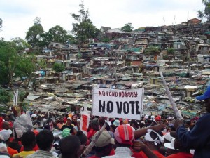 South-Africa-Shack-Dwellers-Movement-No-Land-No-House-No-Vote-111405-by-Christopher-David-Lier-300x225, On Saturday we march with our Congolese comrades against the politics of death, World News & Views