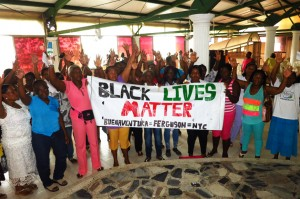 Buenaventura's Madres Comunitarias (Community Mothers) expressed solidarity with the Black Lives Matter movement