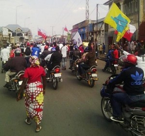 Another round of mass protests telling President Joseph Kabila the Congolese people want him out of office in 2016 swept the country on Sept. 27, 2014 – this one in Kinshasa – and more have followed.