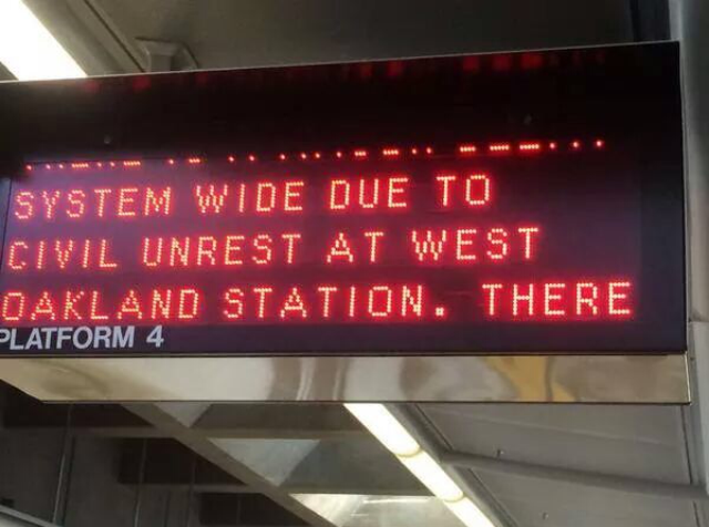 The Blackout Collective action shut down BART for hours.