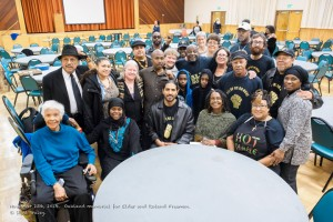"After the Freeman Brothers Memorial at the Oakland Masonic Center on Nov. 23, some of the brothers' ""family"" gathered for a group photo. – Photo: Scott Braley"