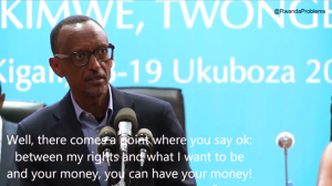 President Kagame is not known to have returned any foreign aid checks yet.