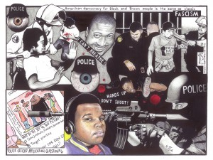 Police-Fascism-1214-art-by-Kevin-Rashid-Johnson-web-300x225, No matter what they say or do, we die, Behind Enemy Lines