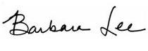 Barbara Lee signature