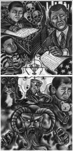 """Disobedience is Being Black or Brown"" – Art: Victor Garcia"