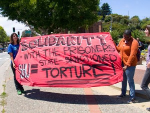 During the first California statewide hunger strike, on July 23, 2011, this banner led the support march in Santa Cruz. – Photo: Bradley, Bradley@riseup.net