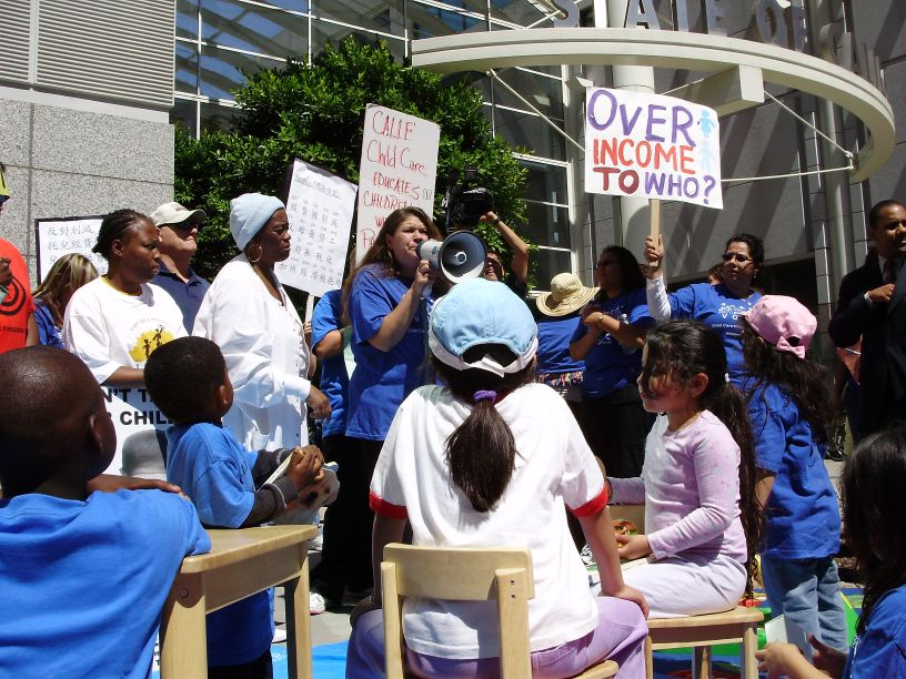 Oakland-child-care-funding-rally-073008, Governor's proposed budget leaves California's youngest children behind, Local News & Views