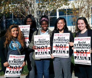 Project WHAT! members participated in the Statewide Action Against Jail Expansion in Sacramento in December 2013.