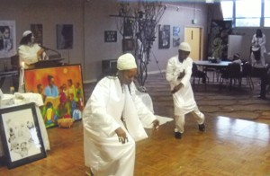 Yalani and his mother perform a mother-son Hebrew ceremonial thanksgiving dance at his Kinseyaba.